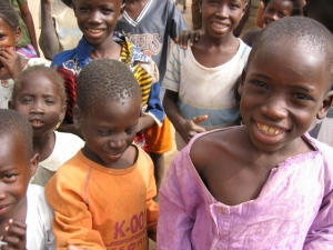 Children in the village of Garana